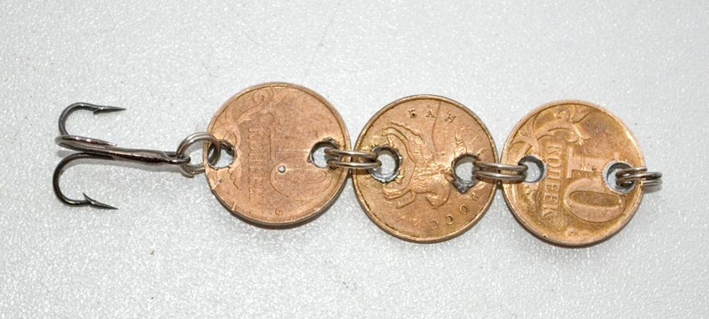 Блесна из монет