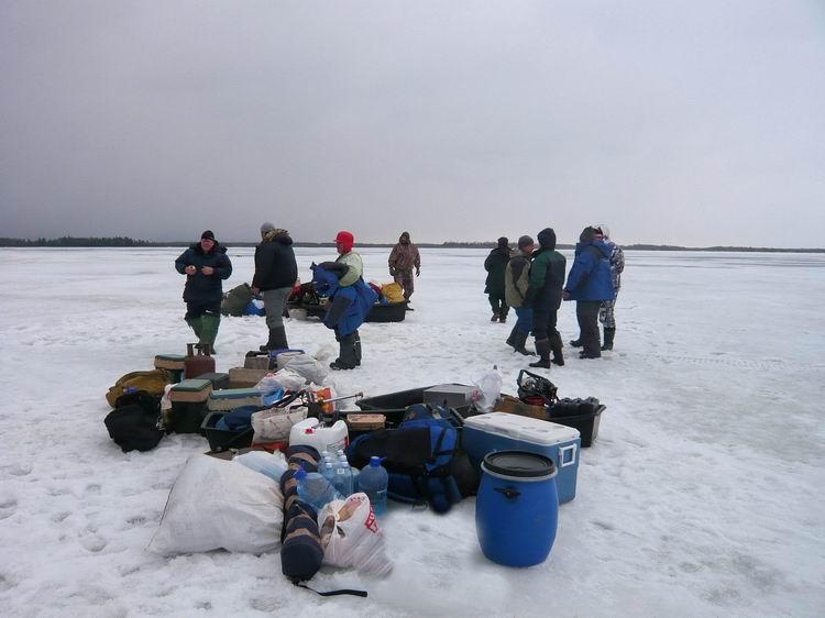 рыбалка на озере елань