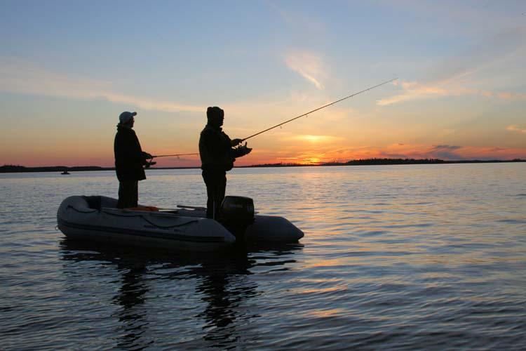рыбалка на озере у иматры