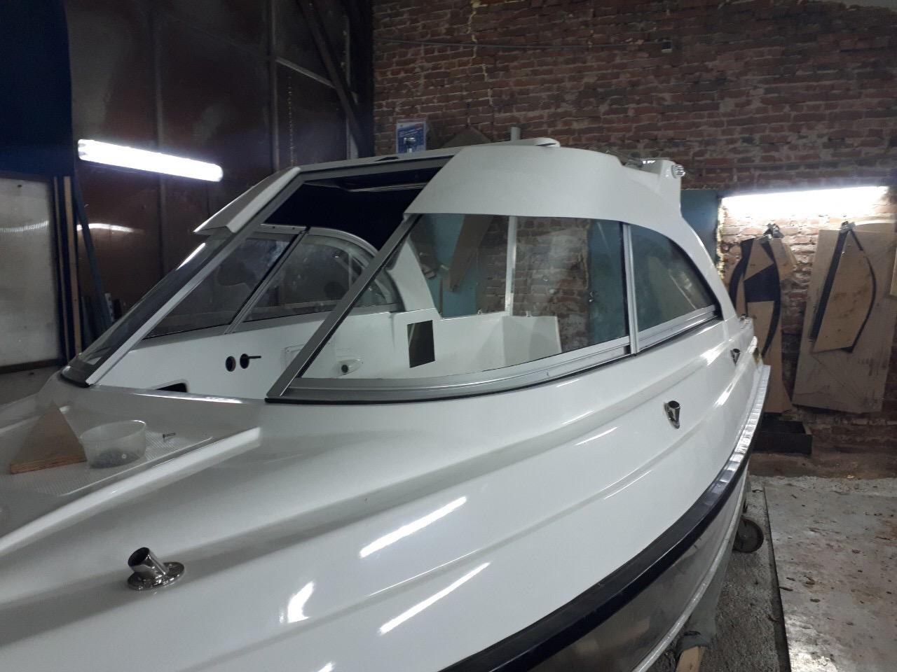 Остекление лодок, катеров, яхт. Стекло Триплекс